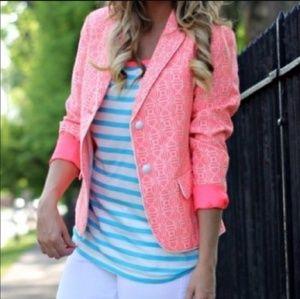 Gap Neon Pink Academy Blazer